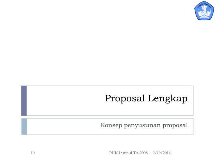Proposal Lengkap