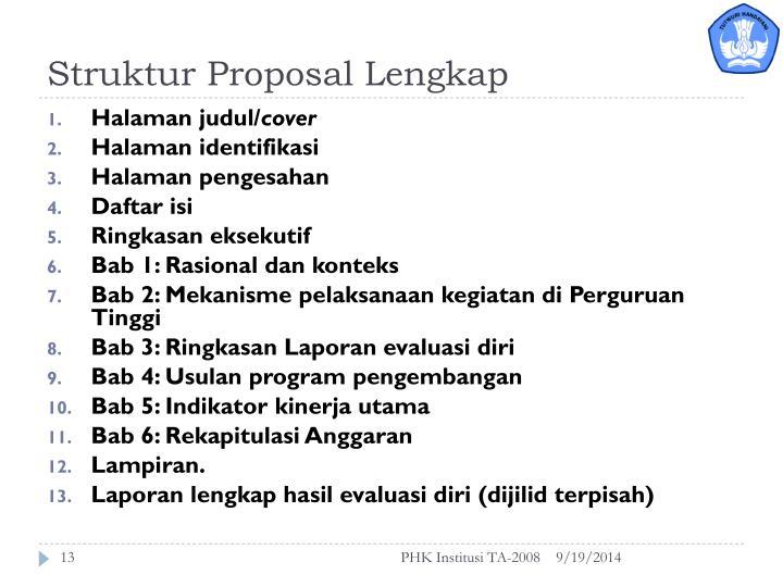 Struktur Proposal Lengkap