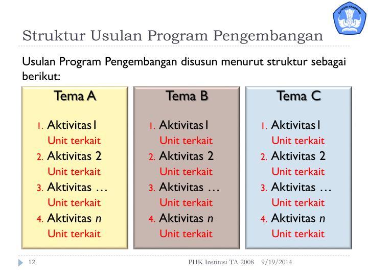 Struktur Usulan Program Pengembangan