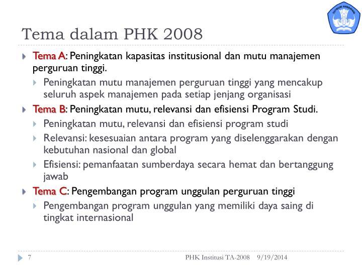 Tema dalam PHK 2008