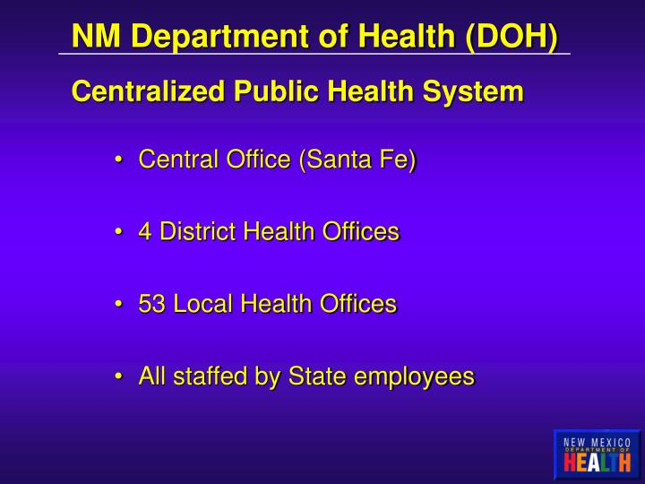 NM Department of Health (DOH)