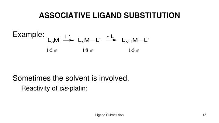 ASSOCIATIVE LIGAND SUBSTITUTION