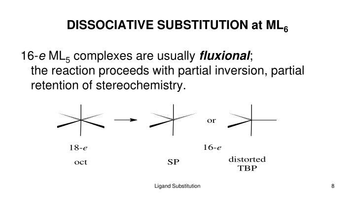 DISSOCIATIVE SUBSTITUTION at ML
