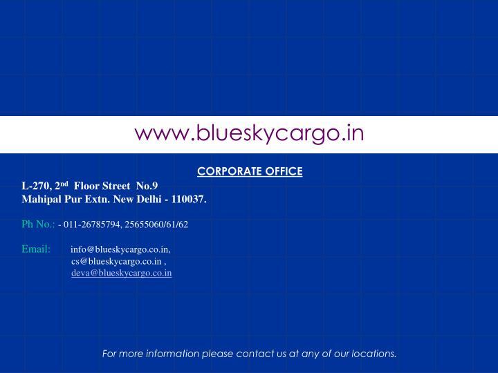 www.blueskycargo.in