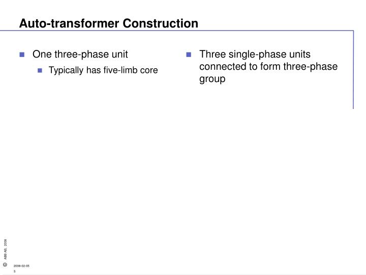 One three-phase unit