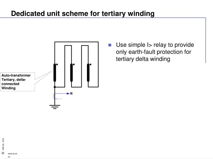 Dedicated unit scheme for tertiary winding