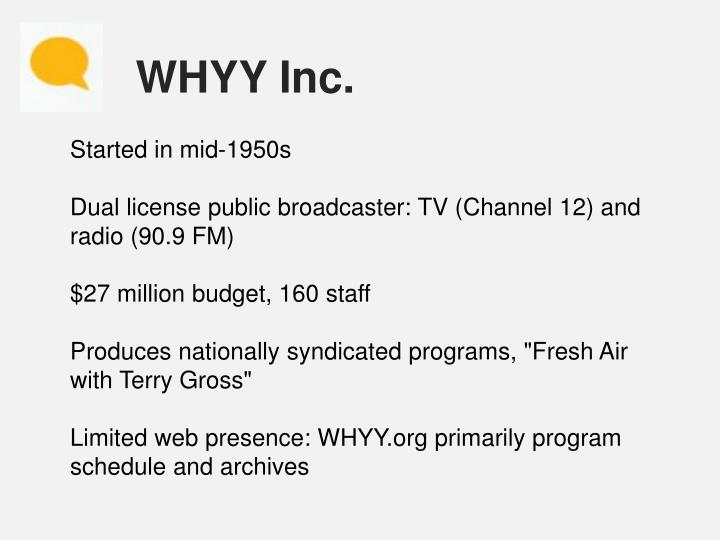 WHYY Inc.
