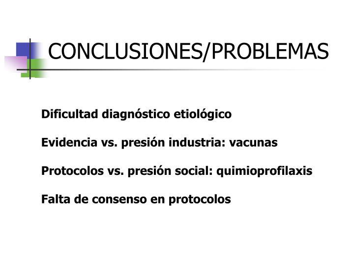 CONCLUSIONES/PROBLEMAS