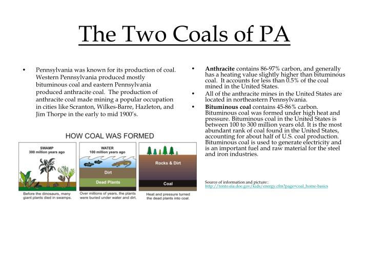 The two coals of pa