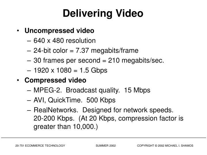 Delivering Video