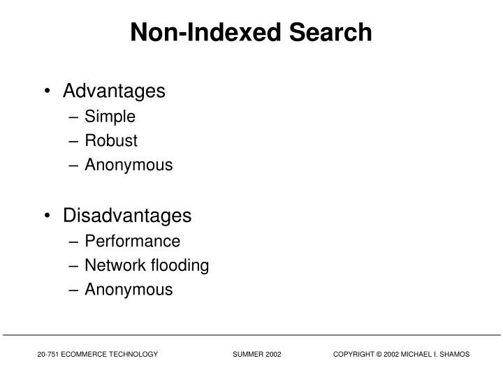 Non-Indexed Search