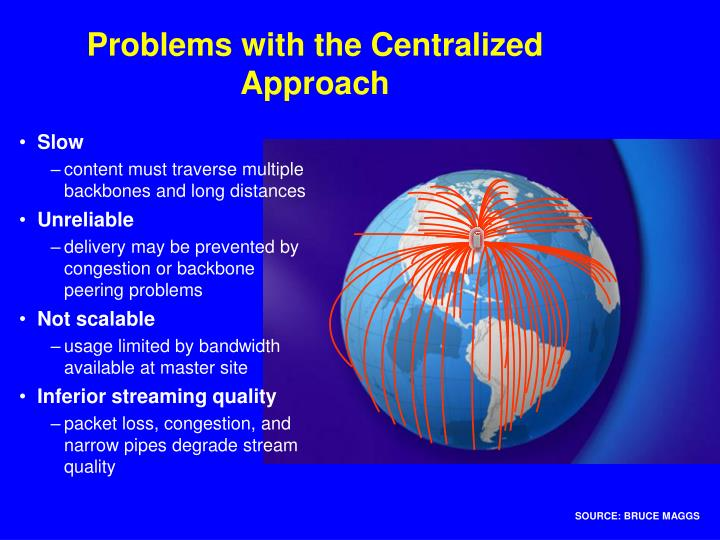 Problems with the Centralized Approach