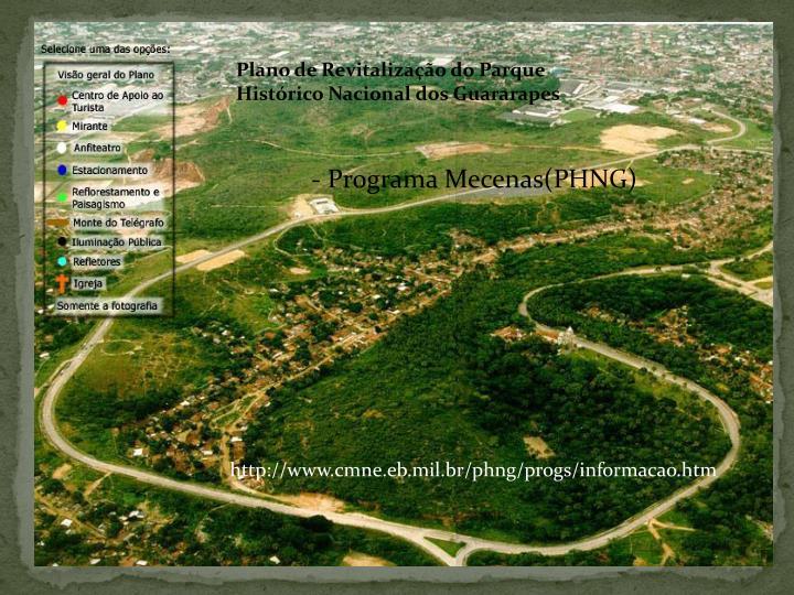 Plano de Revitalização do Parque Histórico Nacional dos Guararapes