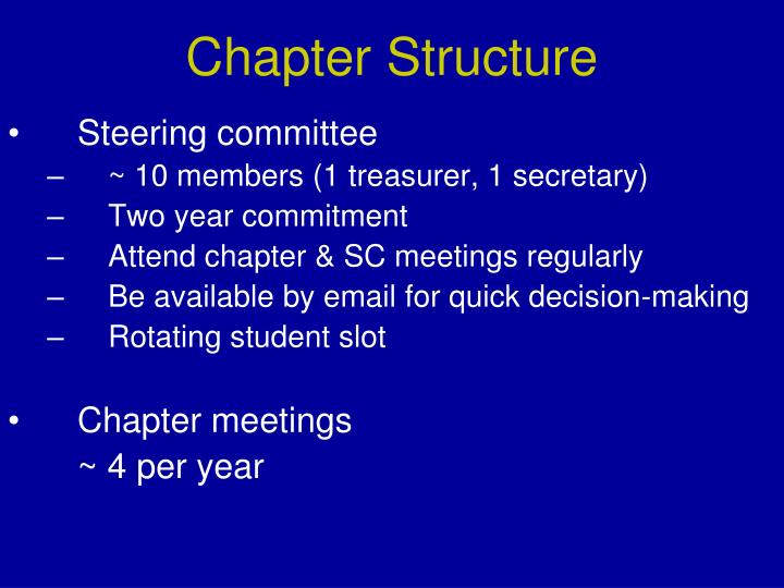 Chapter Structure