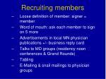 recruiting members