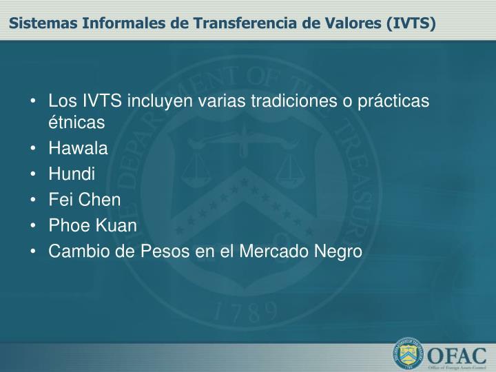 Sistemas Informales de Transferencia de Valores (IVTS)