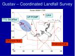 gustav coordinated landfall survey