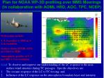 plan for noaa wp 3d profiling over mms moorings in collaboration with aoml hrd aoc tpc ncep