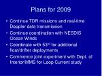plans for 2009