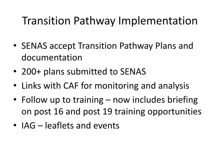 Transition Pathway Implementation