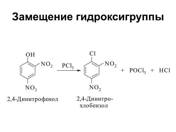 Замещение гидроксигруппы
