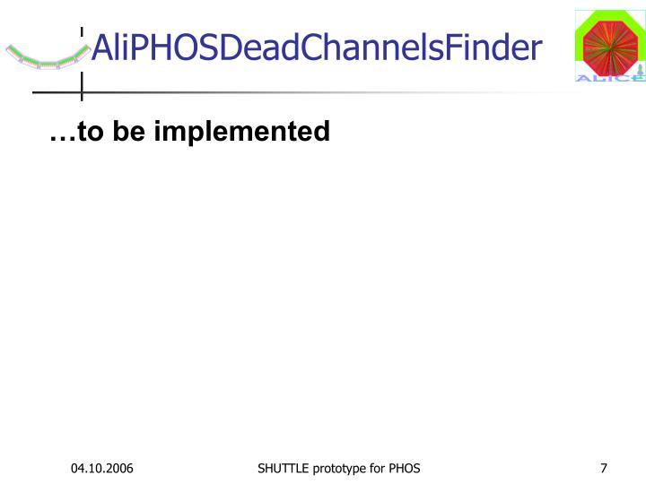 AliPHOSDeadChannelsFinder