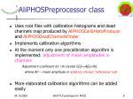 aliphospreprocessor class
