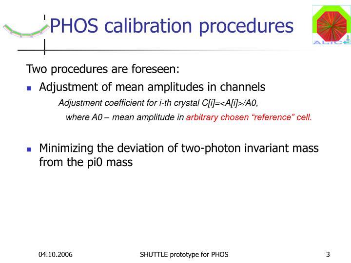 PHOS calibration procedures