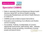 specialist camhs
