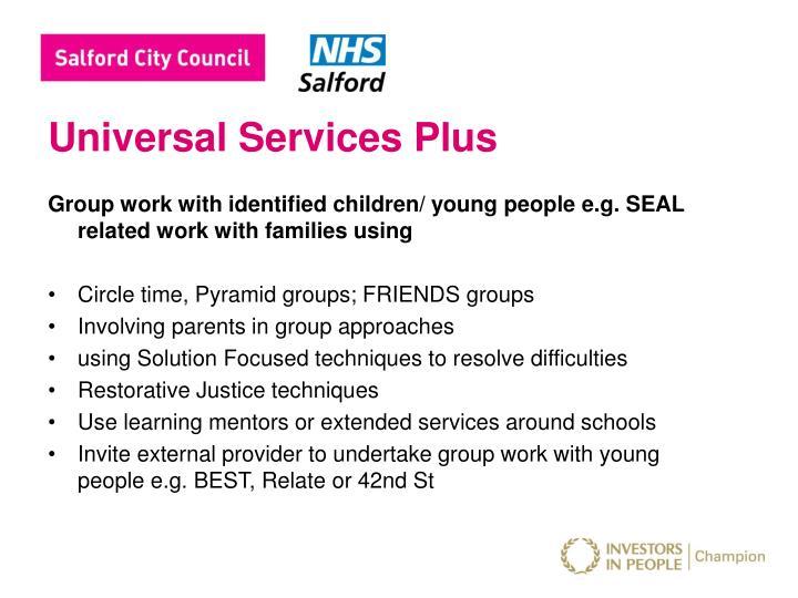 Universal Services Plus