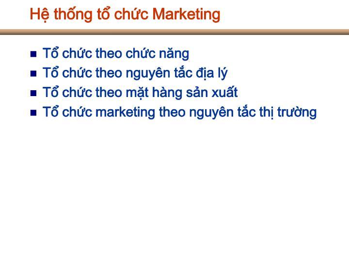 Hệ thống tổ chức Marketing