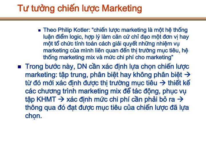 Tư tưởng chiến lược Marketing