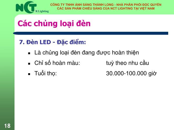 Các chủng loại đèn