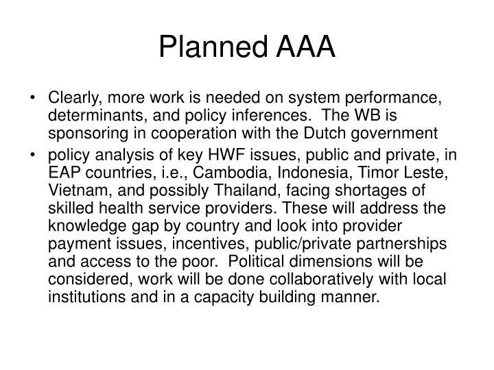 Planned AAA