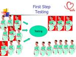 first step testing