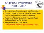 sa pmtct programme 2001 2007