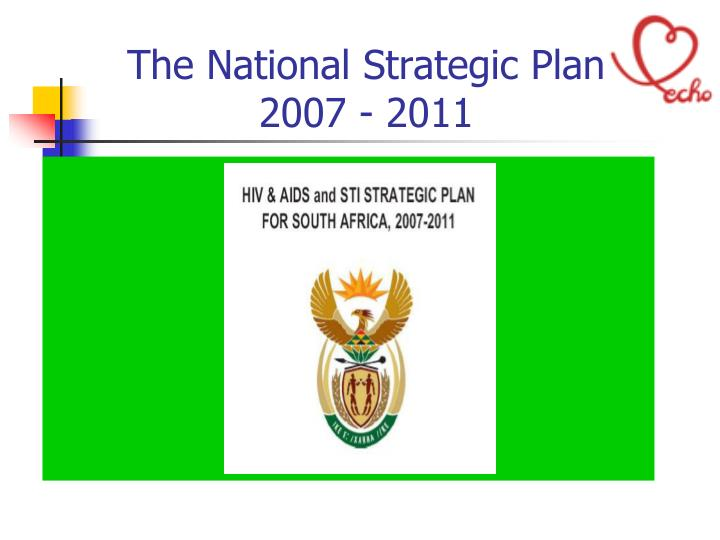 The National Strategic Plan