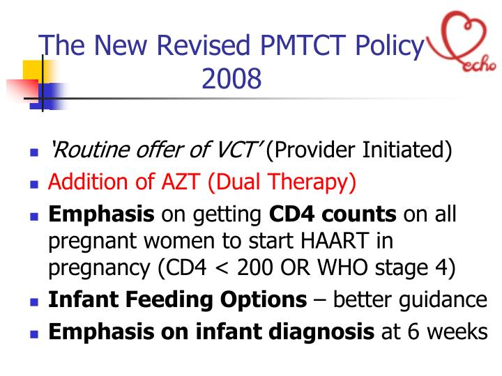 The New Revised PMTCT Policy