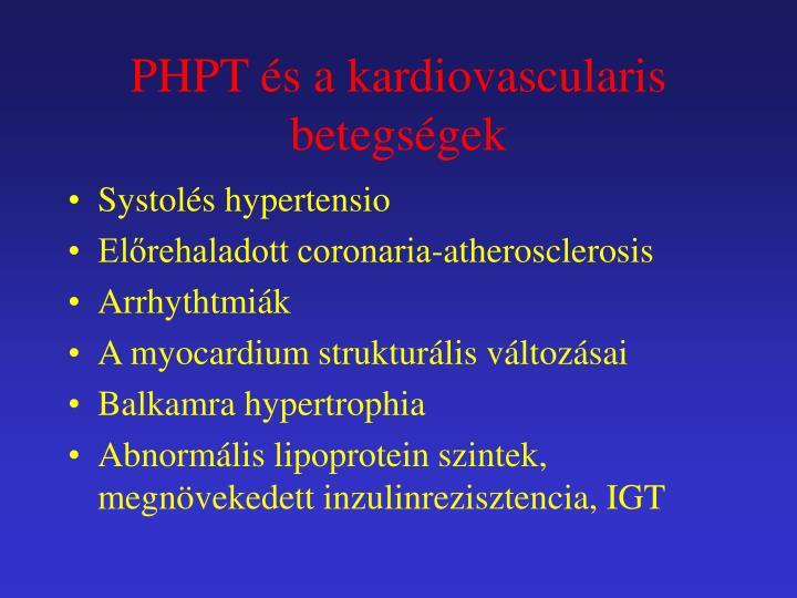 PHPT és a kardiovascularis betegségek