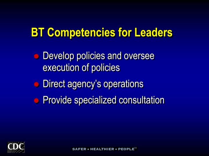 BT Competencies for Leaders