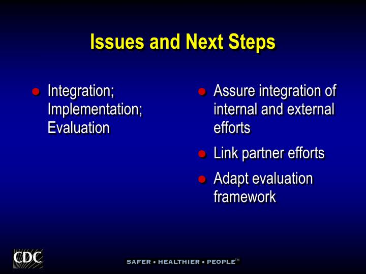 Integration; Implementation; Evaluation