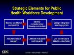 strategic elements for public health workforce development