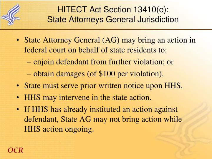 HITECT Act Section 13410(e):
