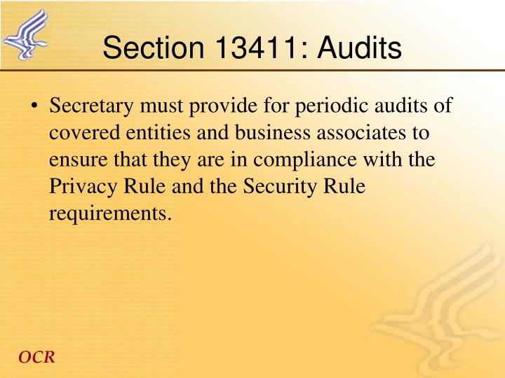 Section 13411: Audits