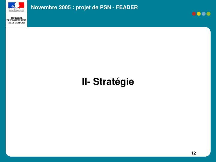II- Stratégie