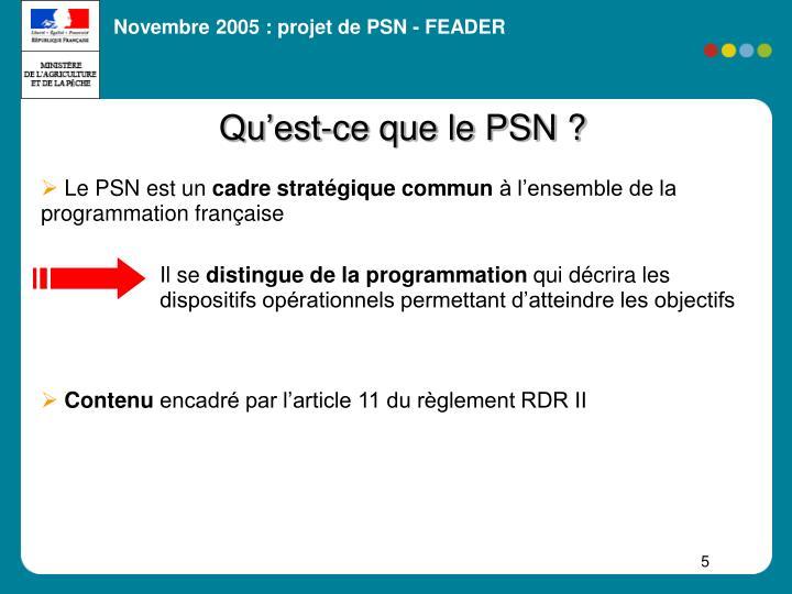 Qu'est-ce que le PSN ?