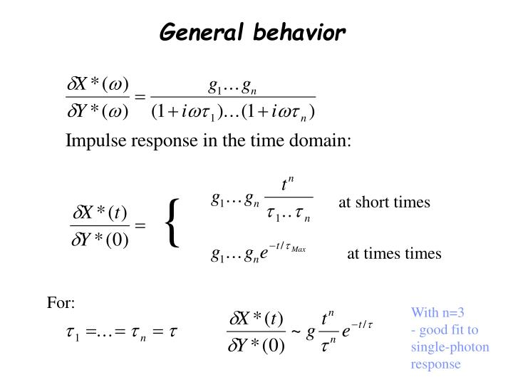 General behavior