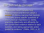 ebp defined by concept1