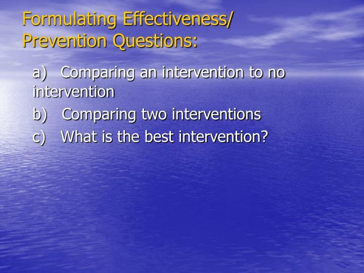 Formulating Effectiveness/