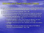 shlonsky and sinai s inclusion criteria